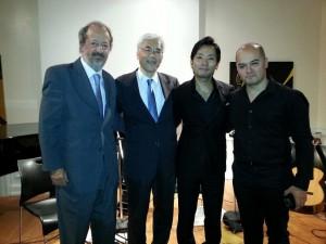 在NY日本国大使、在NYアルゼンチン共和国大使様と共にPhoto con embajador de Japon en NY y embajador de Argentina en NY.